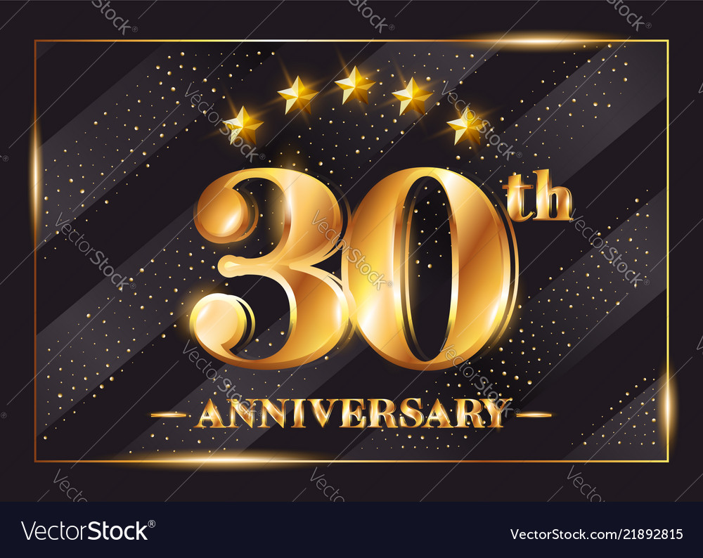 30 years anniversary celebration logo 30th
