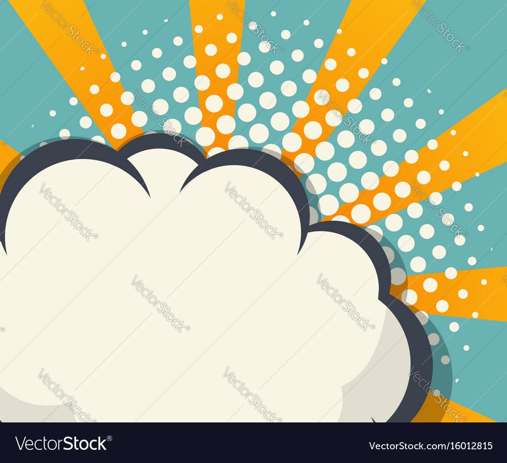 abstract blank speech bubble comic book background rh vectorstock com comic book vector graphics comic book vector graphics