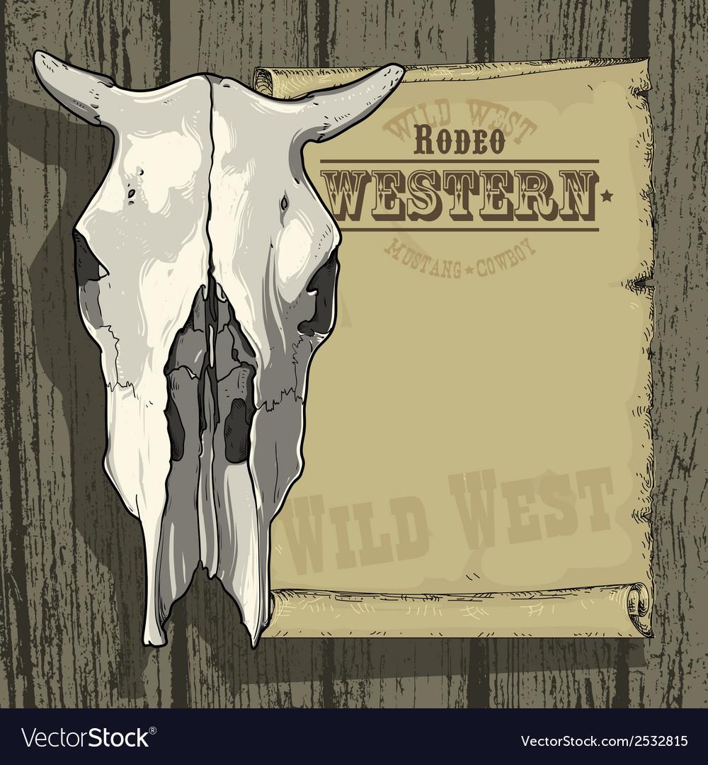 Advertisement RODEO WESTERN vector image