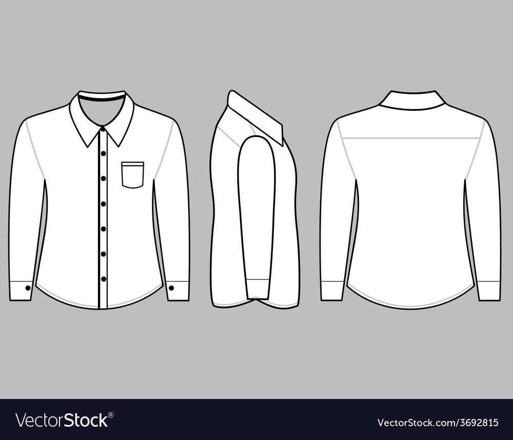 Blank shirt with long sleeves template royalty free vector blank shirt with long sleeves template vector image maxwellsz