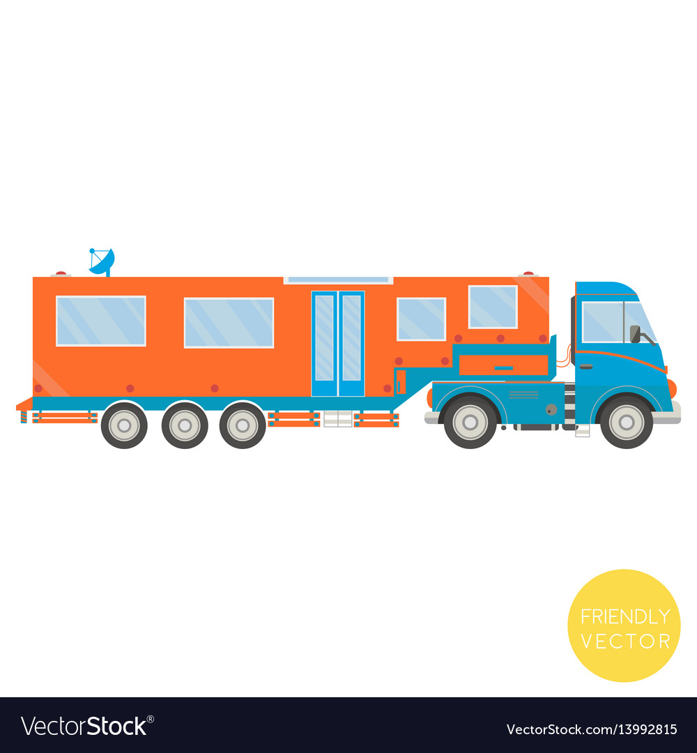 Cartoon transport campervan