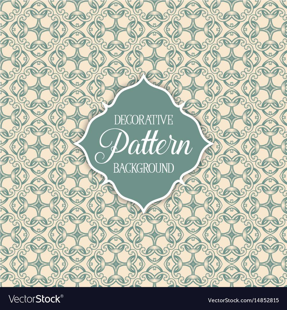 Decorative patterned background vector image