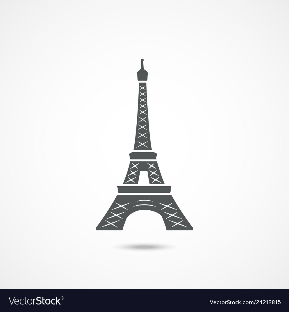 Eiffel tower icon vector