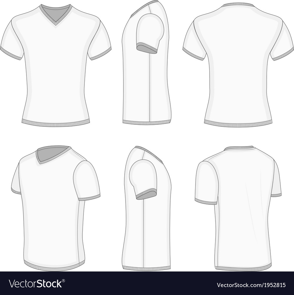 new product 8d2d2 c6e68 Mens white short sleeve t-shirt v-neck vector image