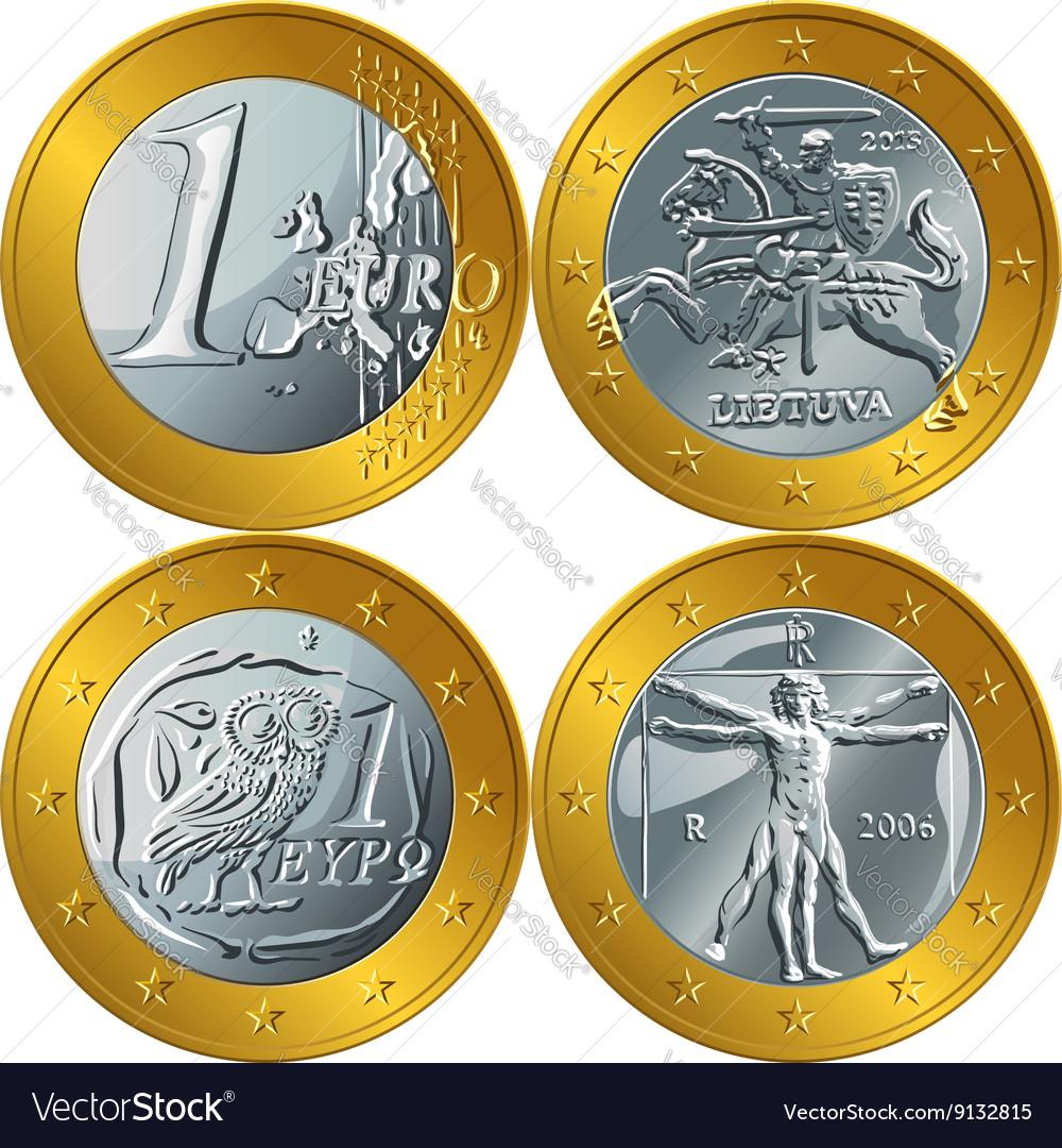 Money gold coin one euro