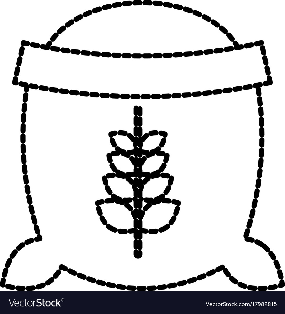 Open sack of wheat full flour grain farm