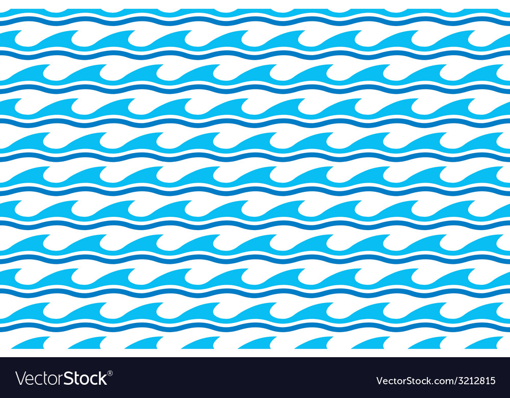 Water Wave Seamless Patterns Royalty Free Vector Image