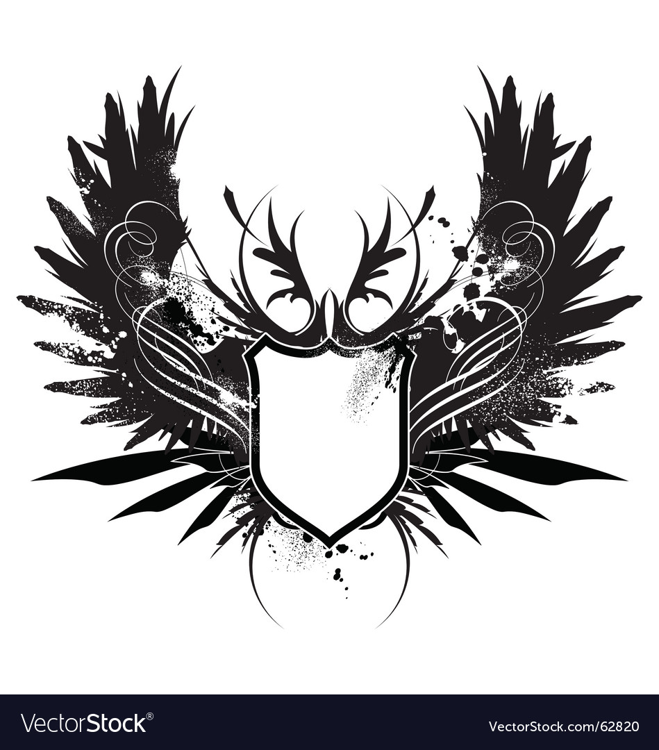 Heraldry shield with axe vector image