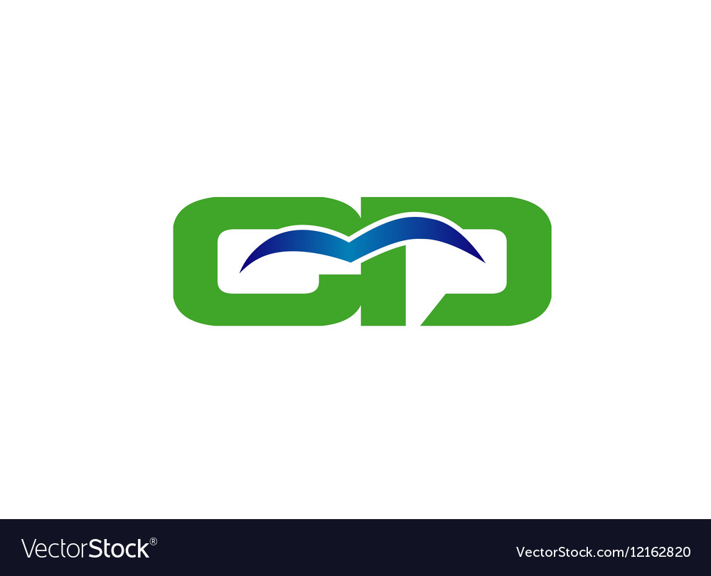 Letter C and D logo vector image