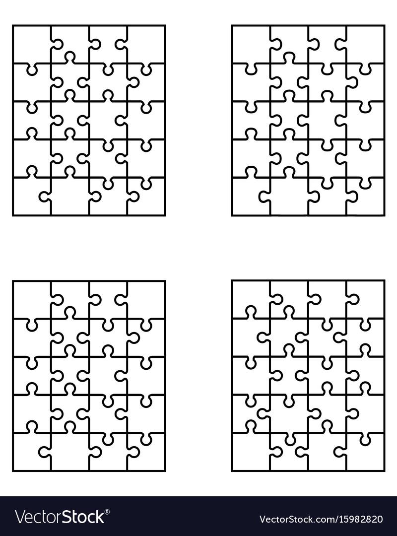 Puzzles separate pieces