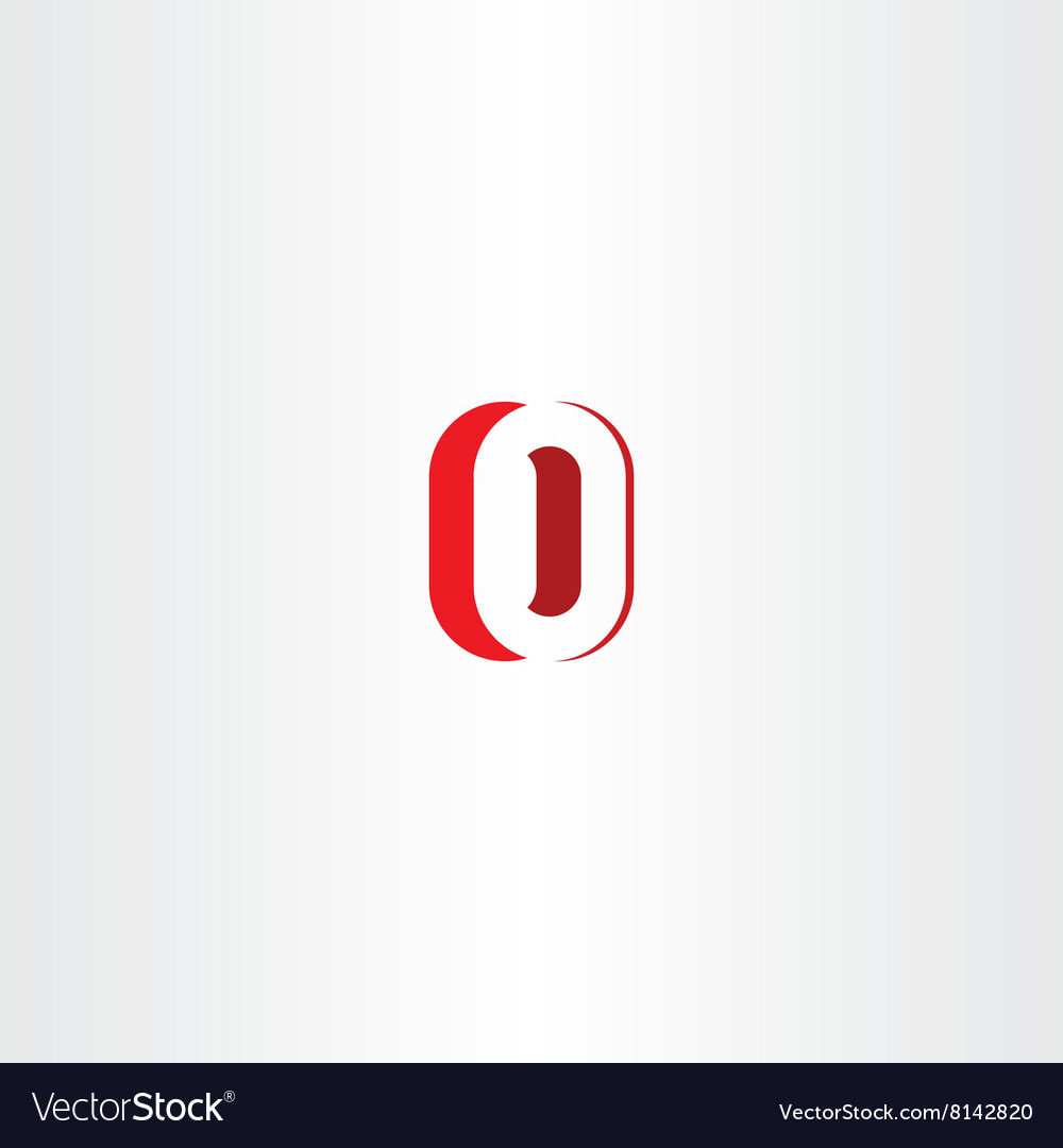Red Letter O Number Zero 0 Logo Icon Design Vector Image