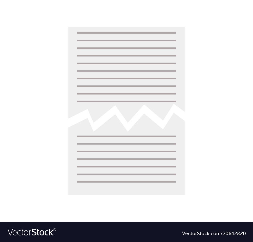 Torn paper sheet icon
