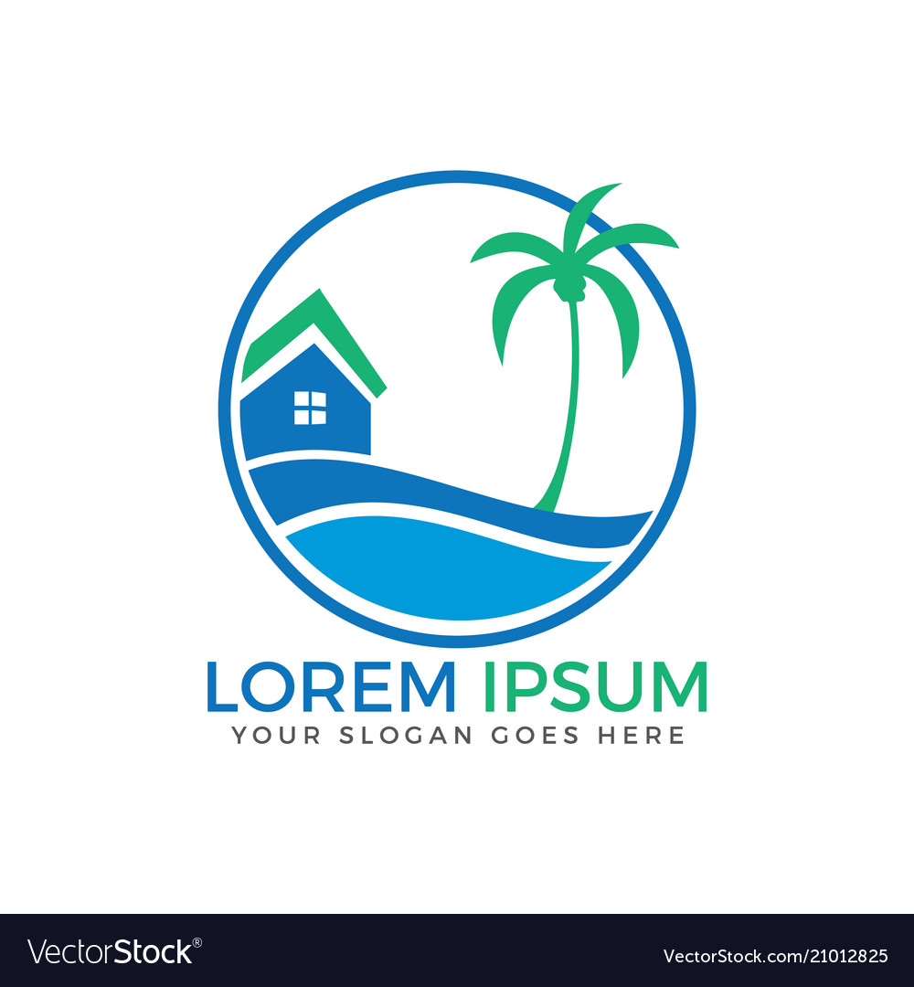 Beach house logo design