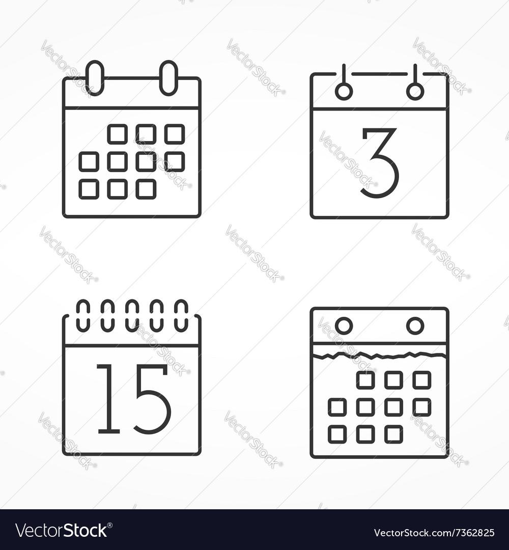 Calendar Line Icons