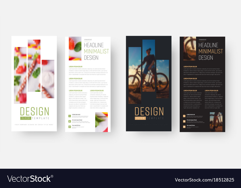 design of a vertical flyer with a rectangle for vector image