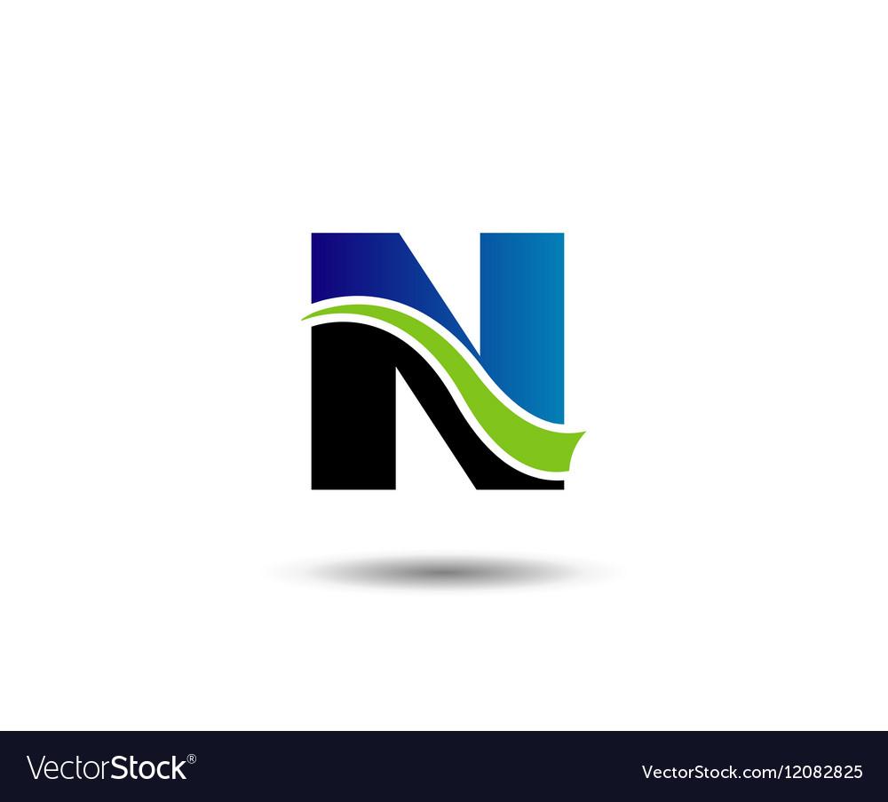 Letter N logo icons design template elements vector image