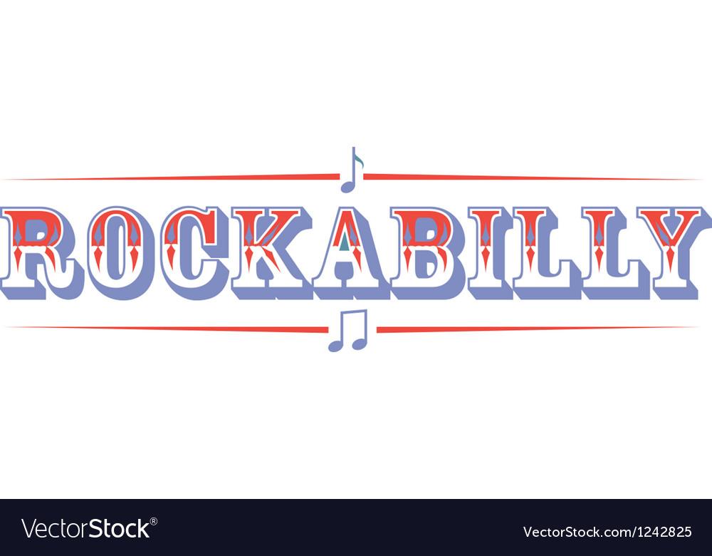 Rockabilly vector image