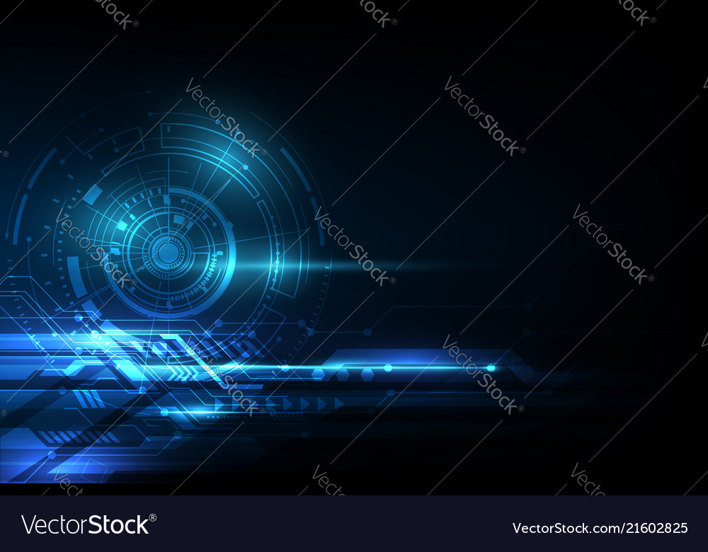 Visualization technology abstract blue head up