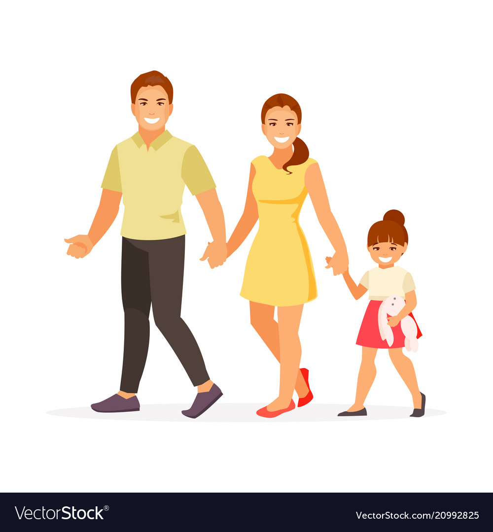 walking family royalty free vector image vectorstock vectorstock