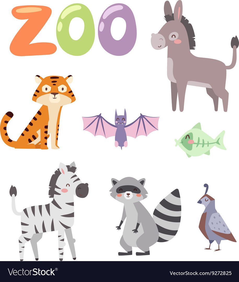Zoo animals set
