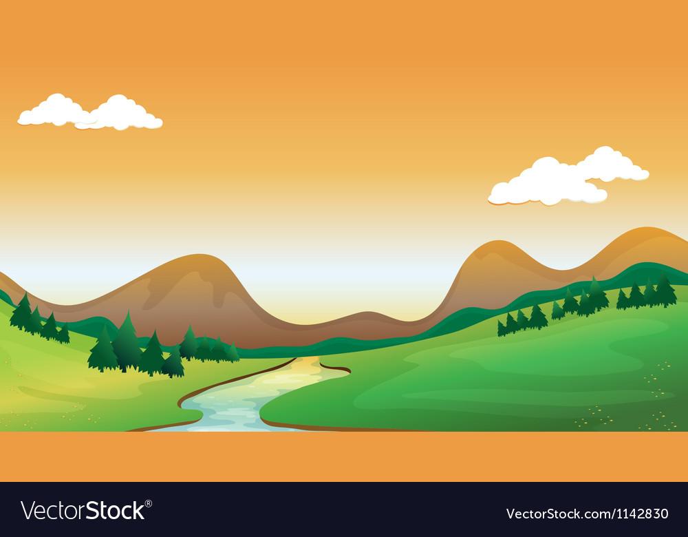 A mountain view vector image