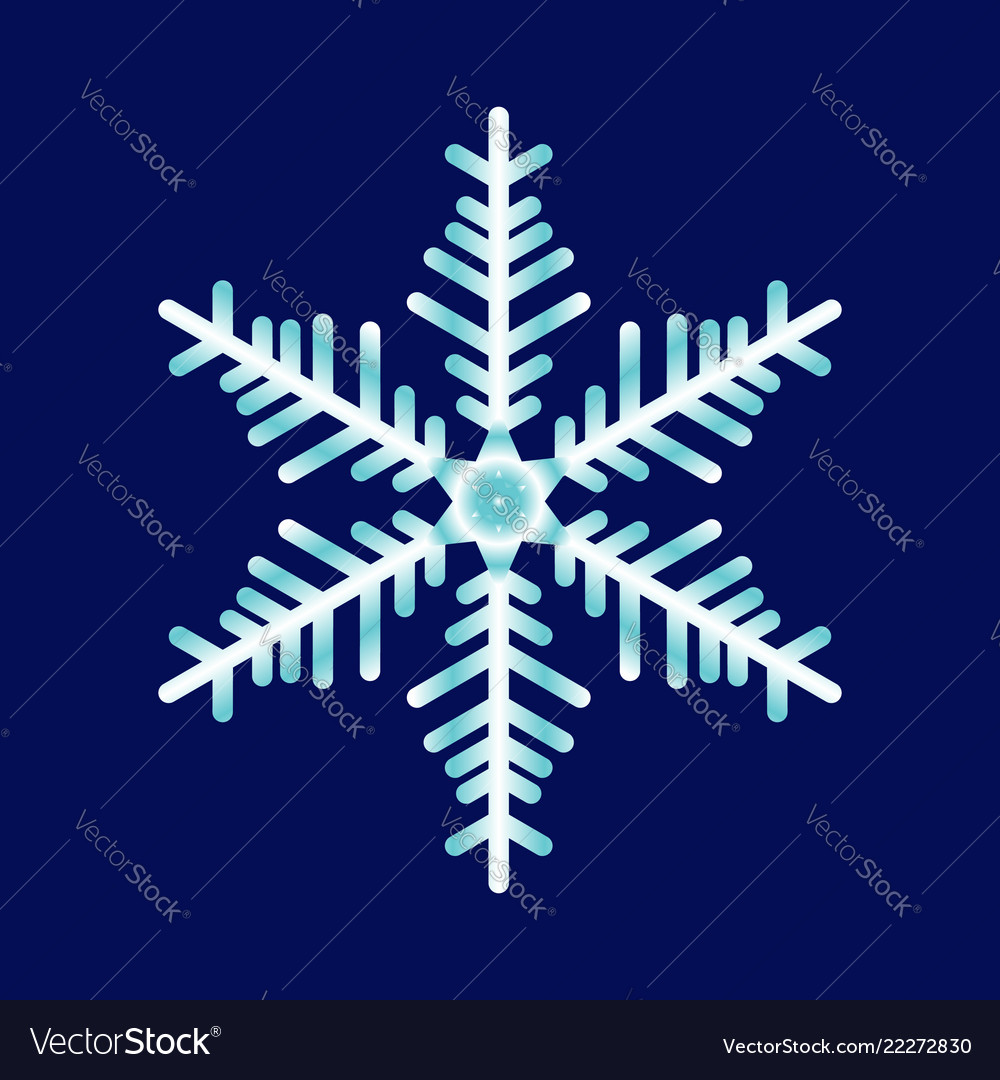 Abstract snowflake on a blue background