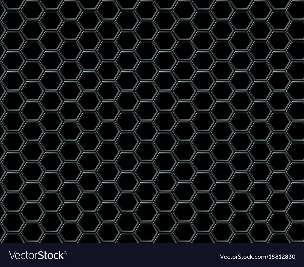 black hexagon mesh on black background design vector image rh vectorstock com black background design wallpaper black background design png