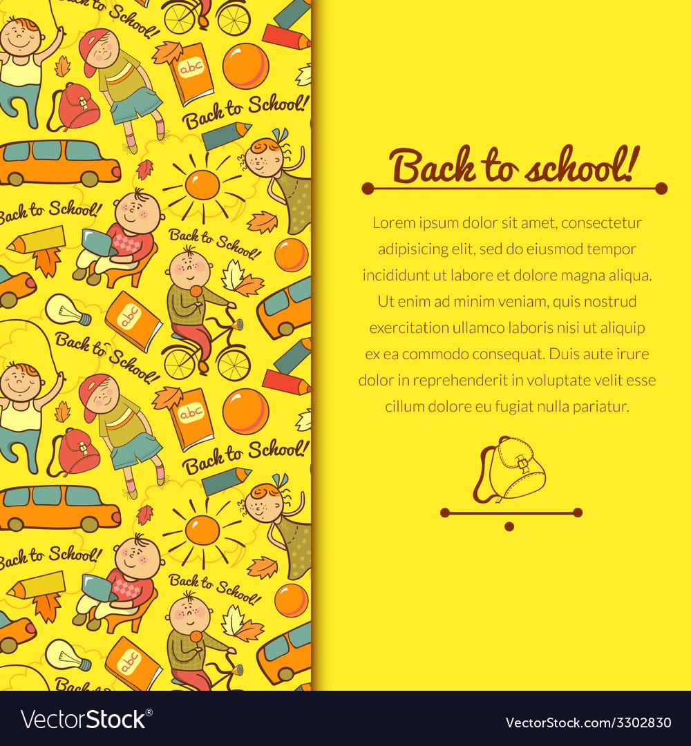 Cheerful background with children