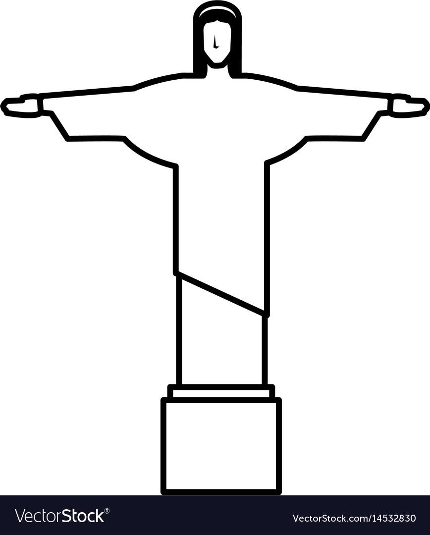 Corcovado christ statue icon