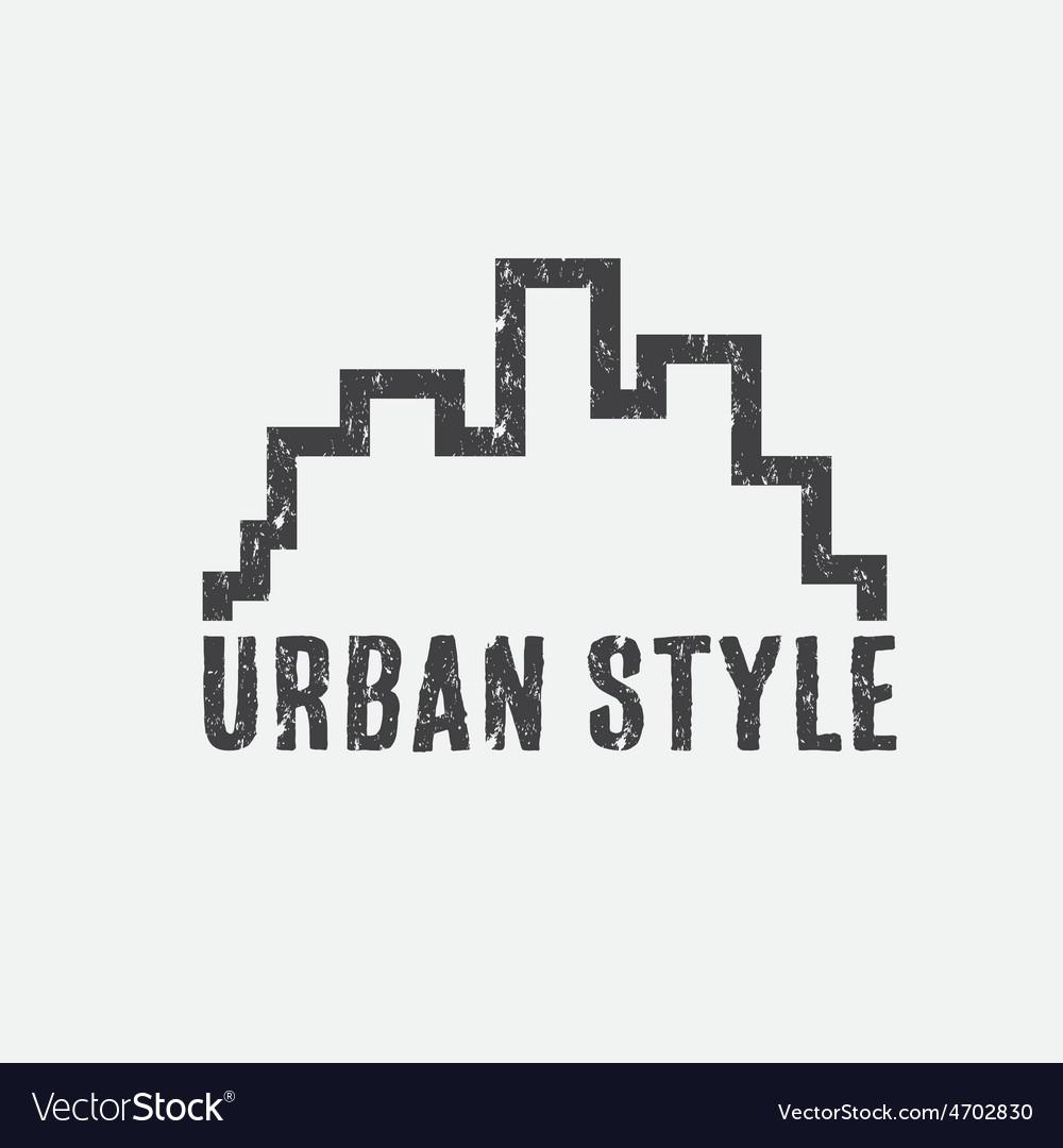 Grunge urban style design template