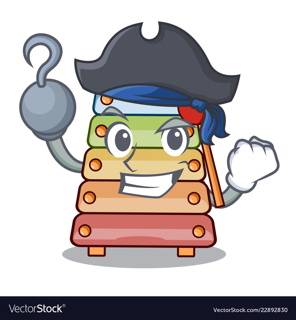 Pirate xylophone classic music sound sign cartoon