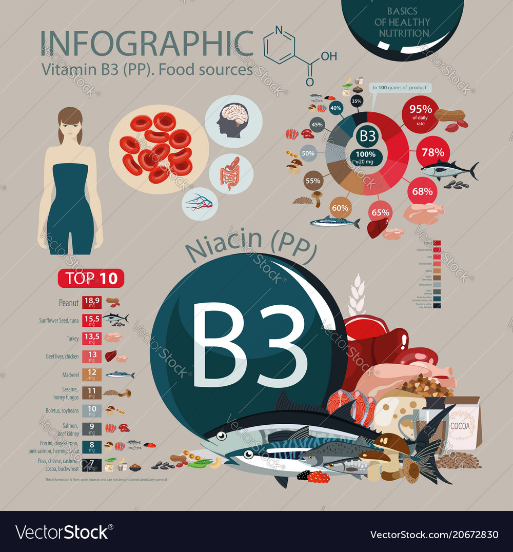 Vitamin b3 pp nutritional sources