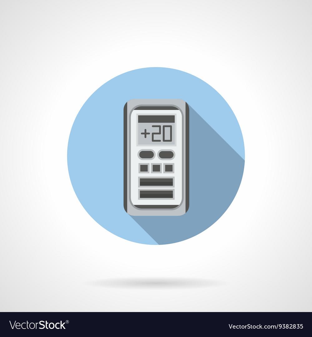 Air temperature control round flat icon