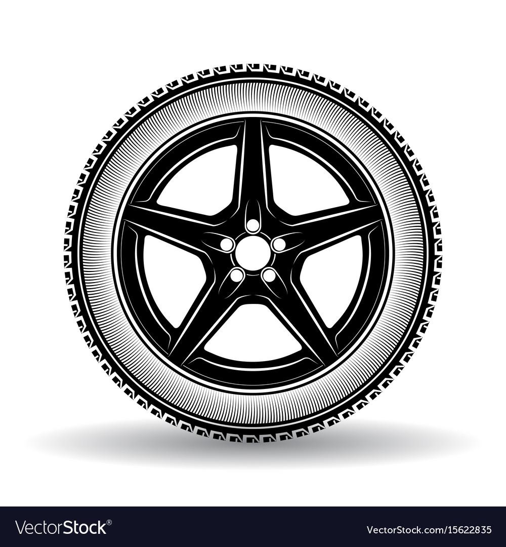 Auto wheel black