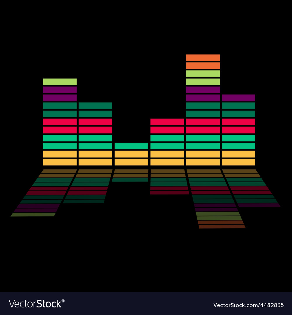 Colorful equalizer - music background
