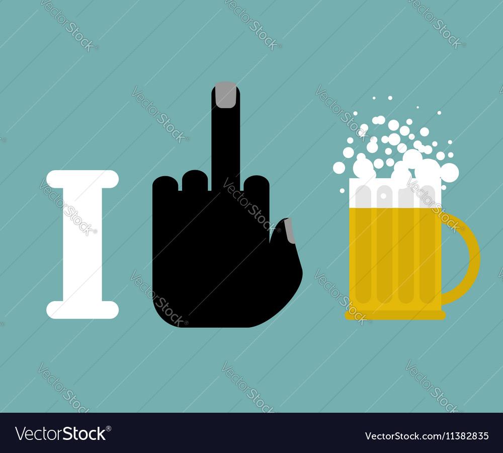 I hate alcohol and beer mug Logo for