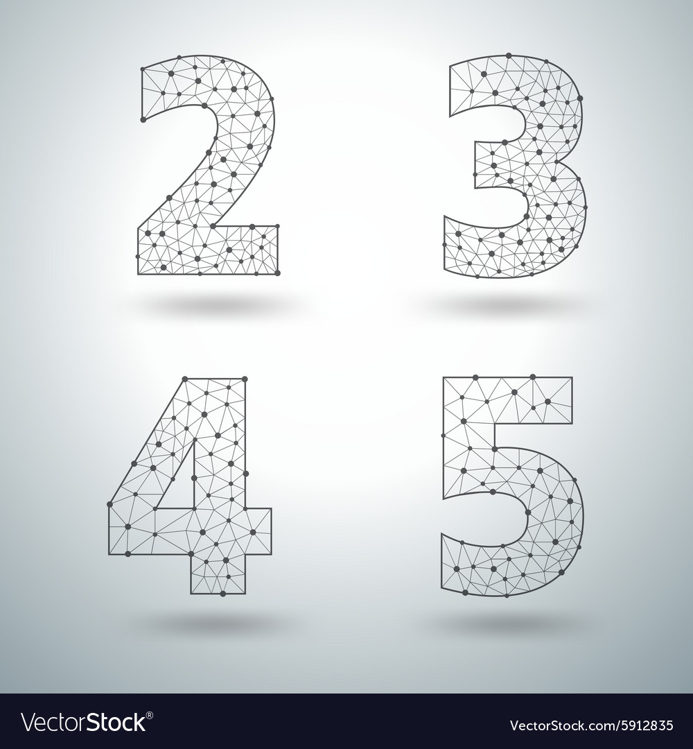 Mesh stylish alphabet letters numbers