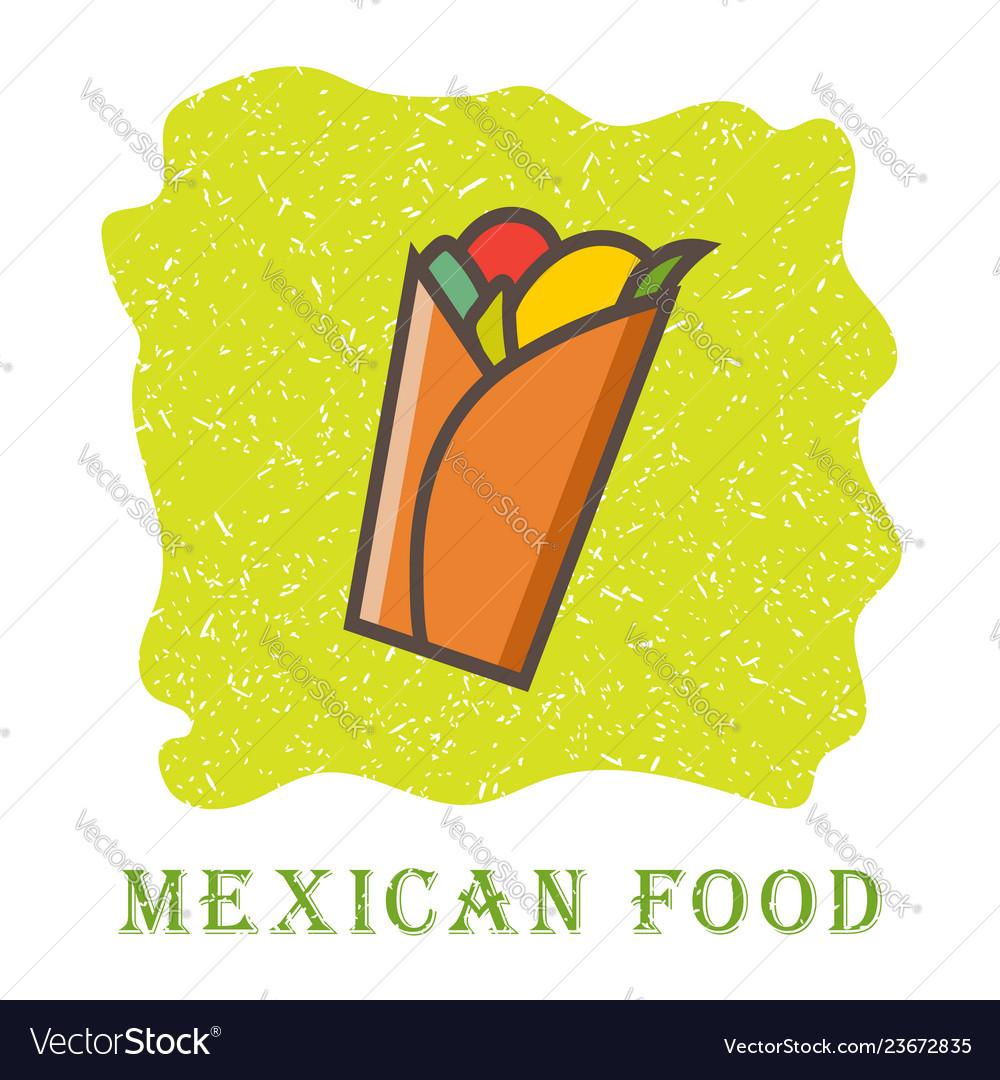 Traditional mexican burrito spicy delicious
