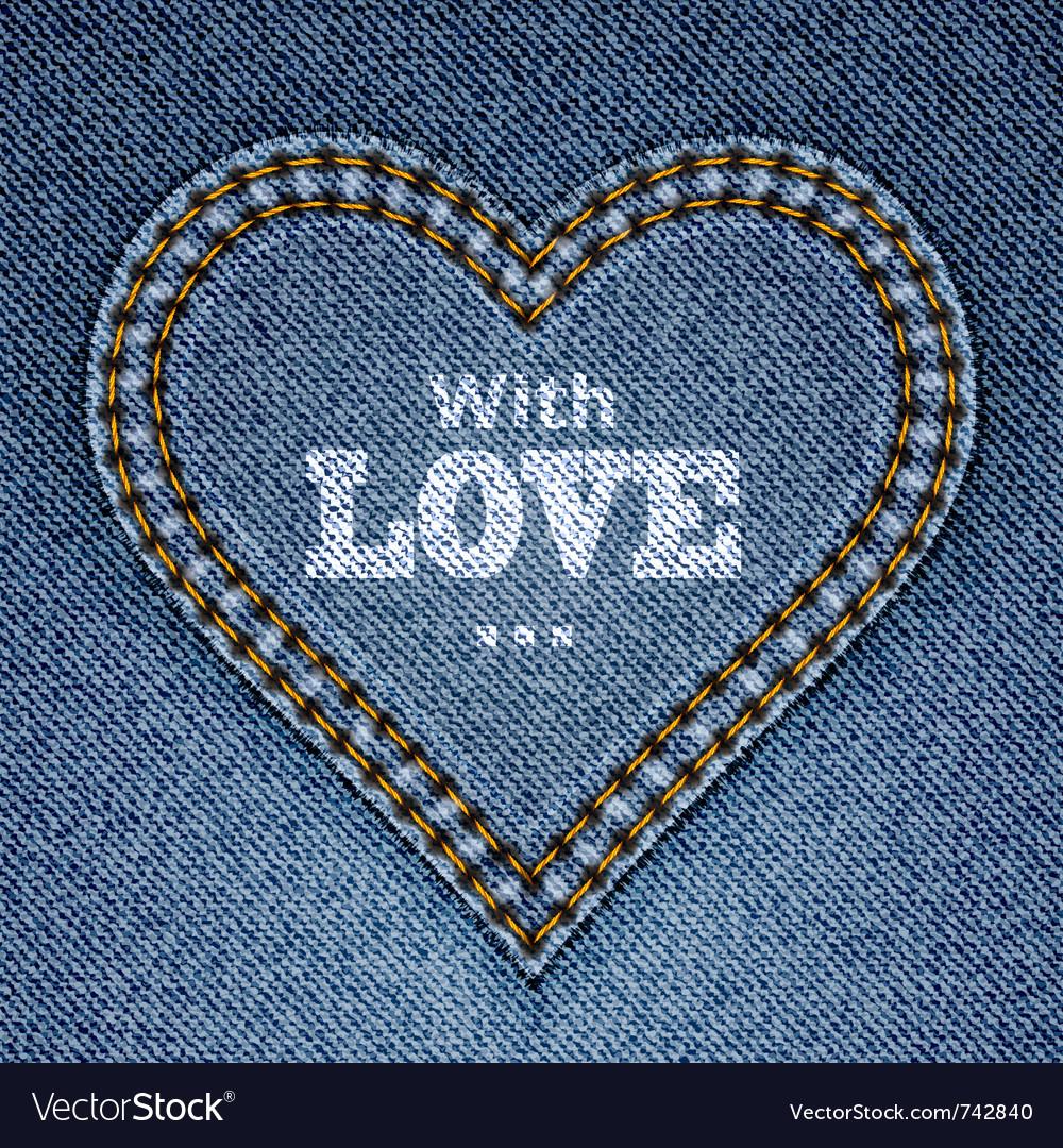 Blue jeans heart