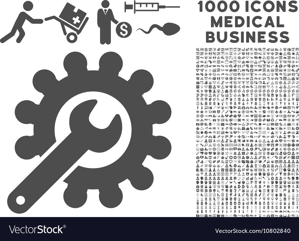 Customization icon with 1000 medical business