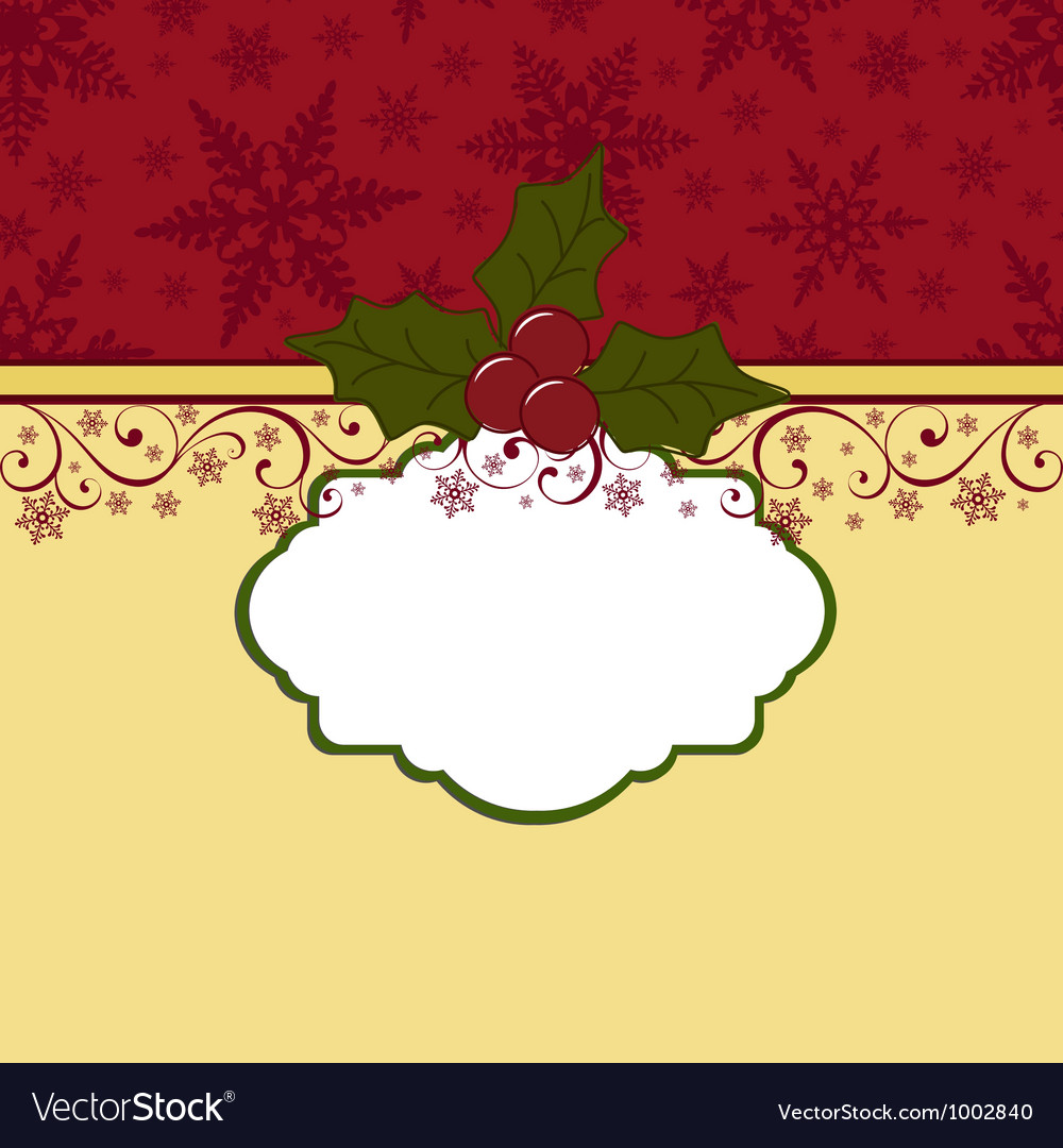 Cute Christmas Postcard Template Royalty Free Vector Image - Christmas postcard template
