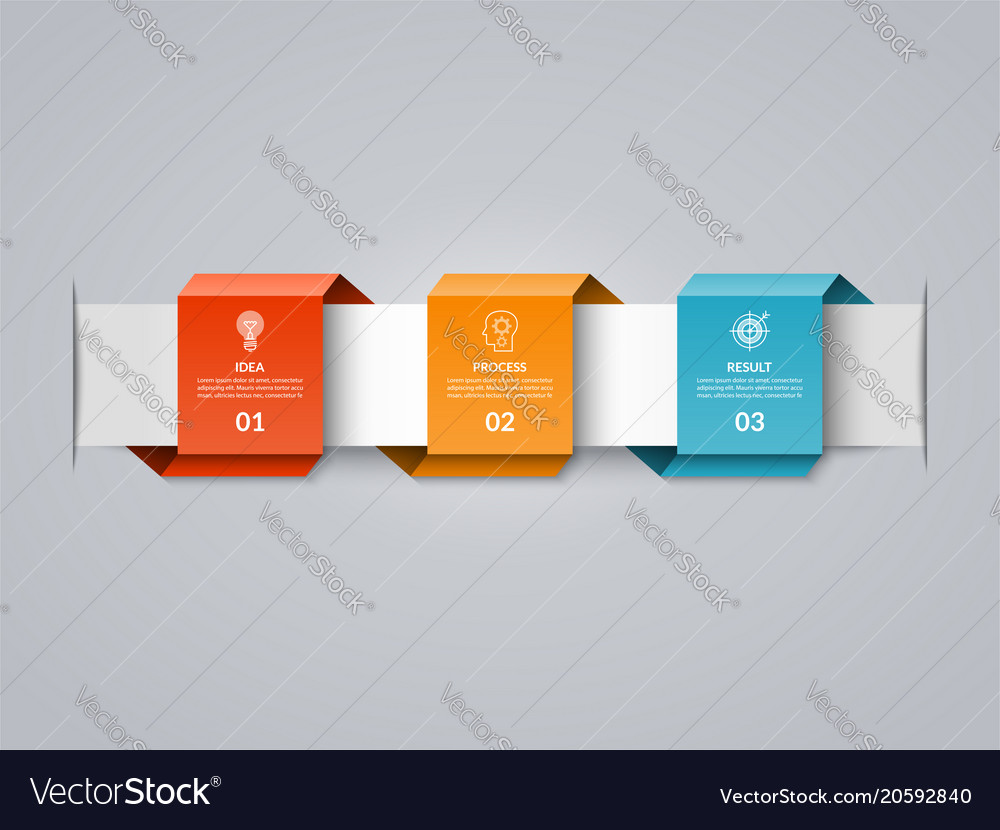 infographic timeline template in paper style vector image