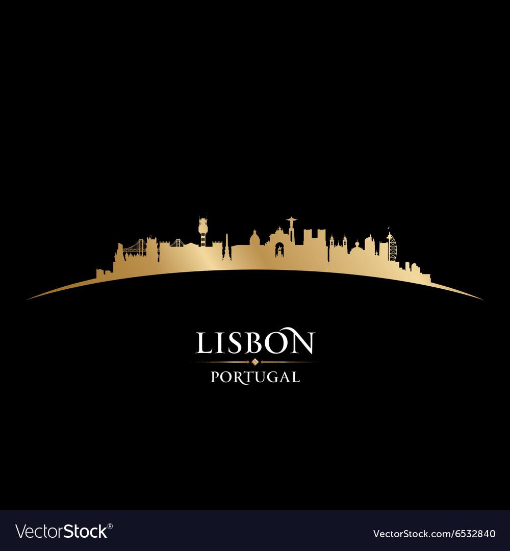 Lisbon portugal city skyline silhouette
