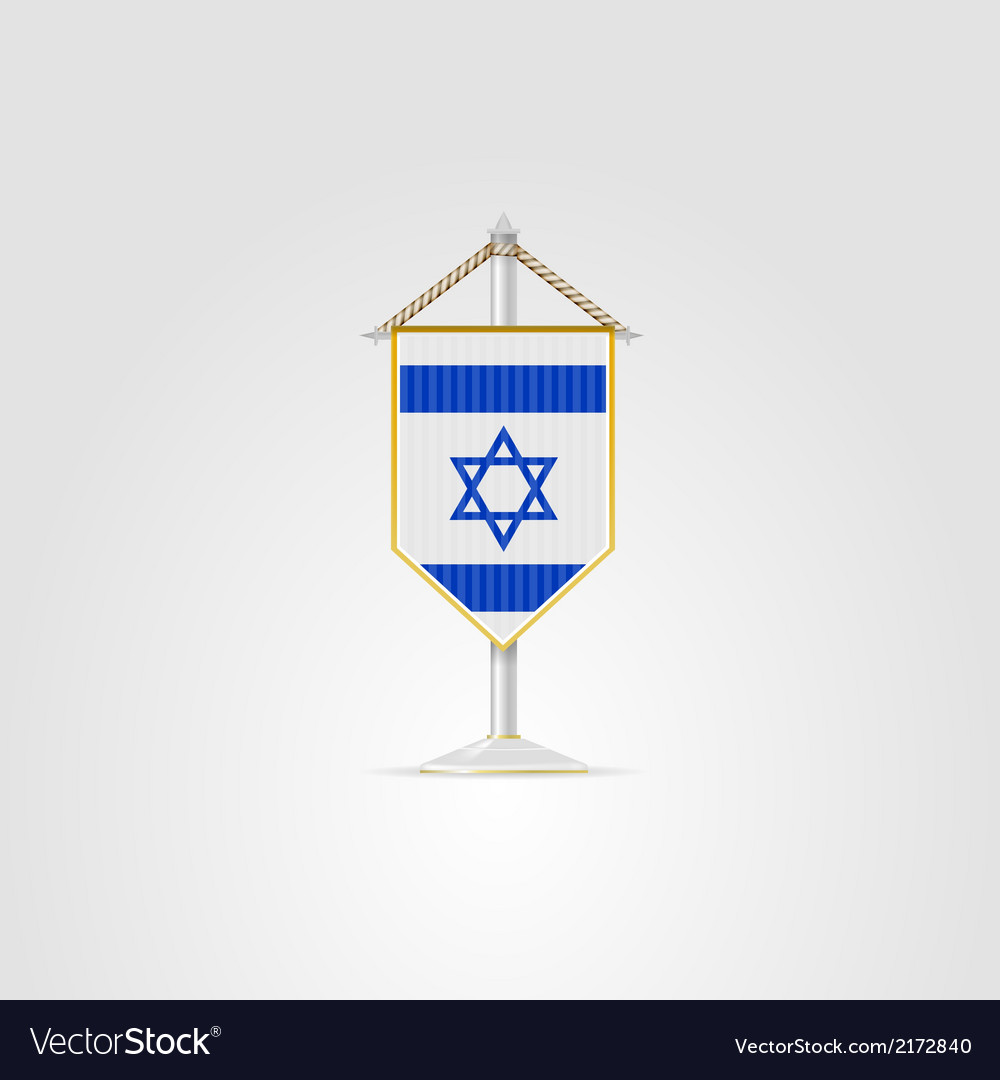 National Symbols Of Middle East Countries Israel Vector Image