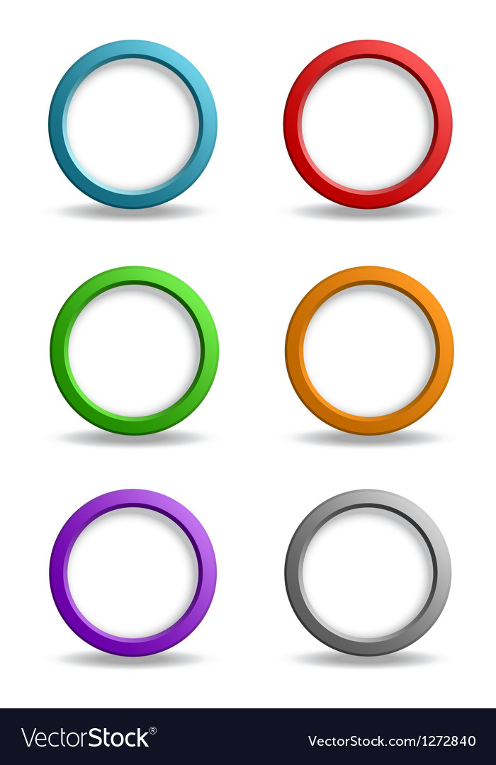 Set colorful simple buttons