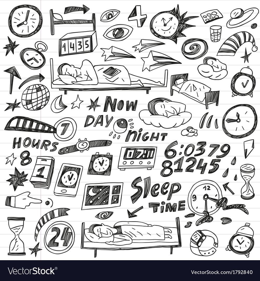 Sleep time - doodles set