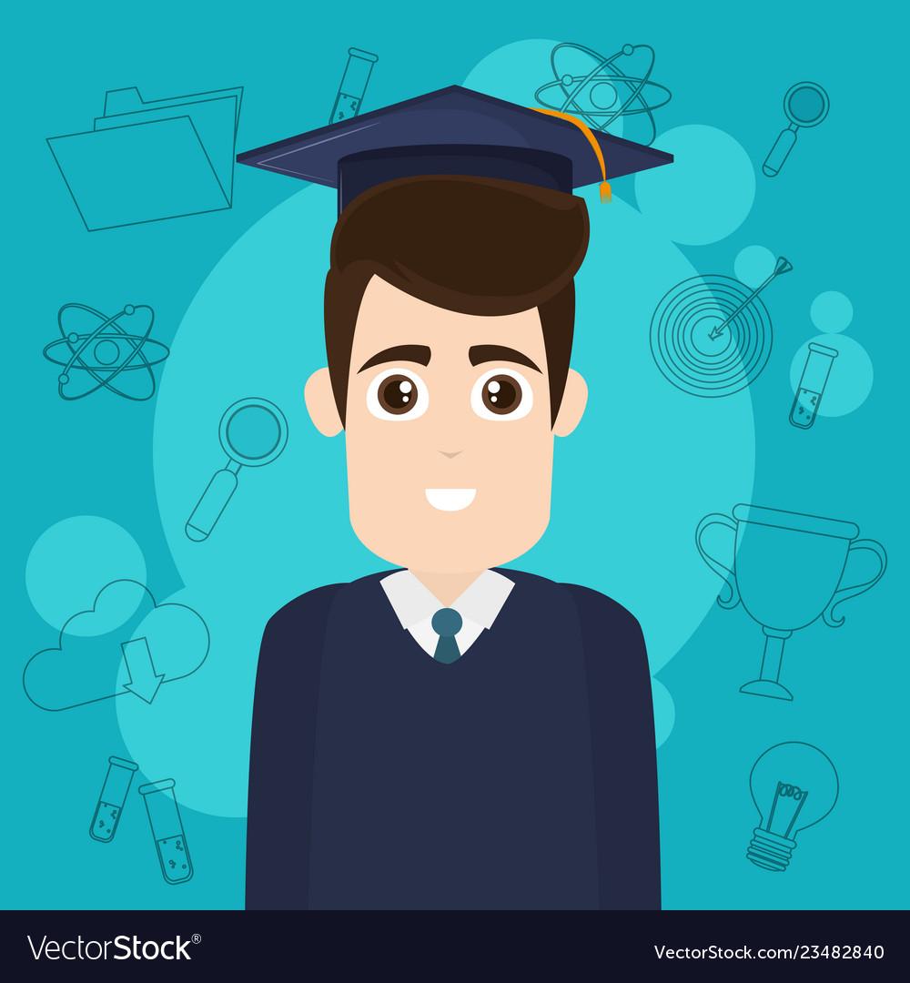 University student cartoon