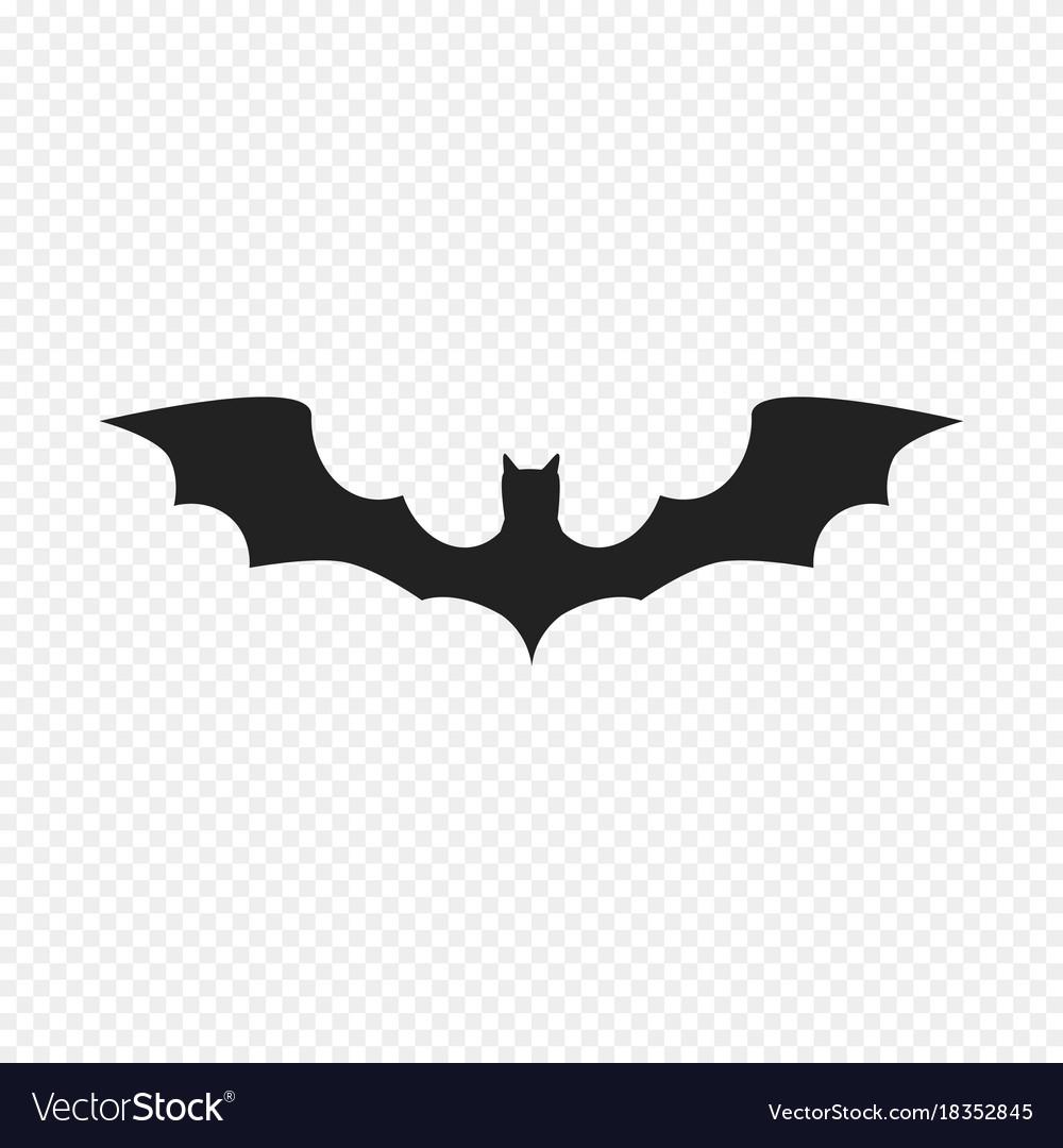 Bat icon isolated on light background