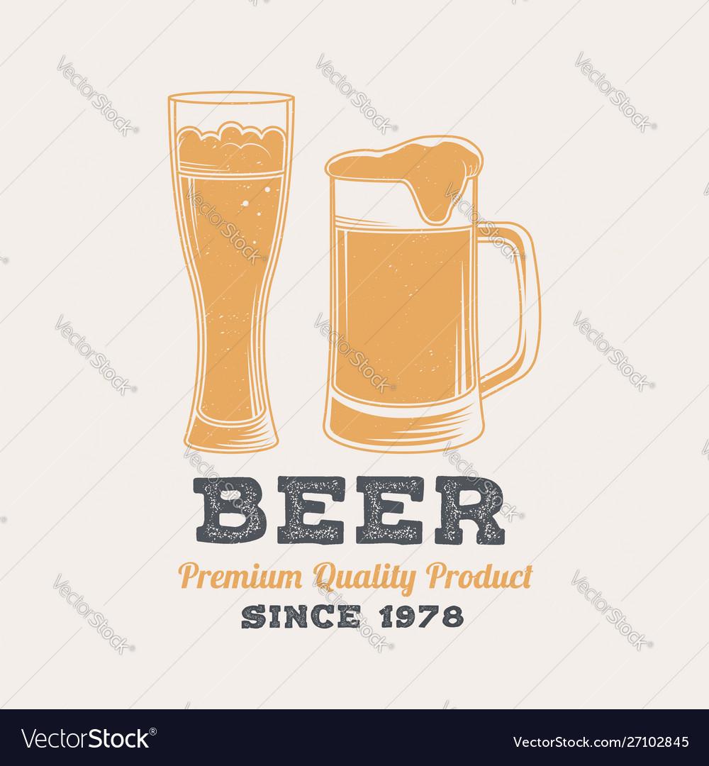 Beer retro badge design vintage design