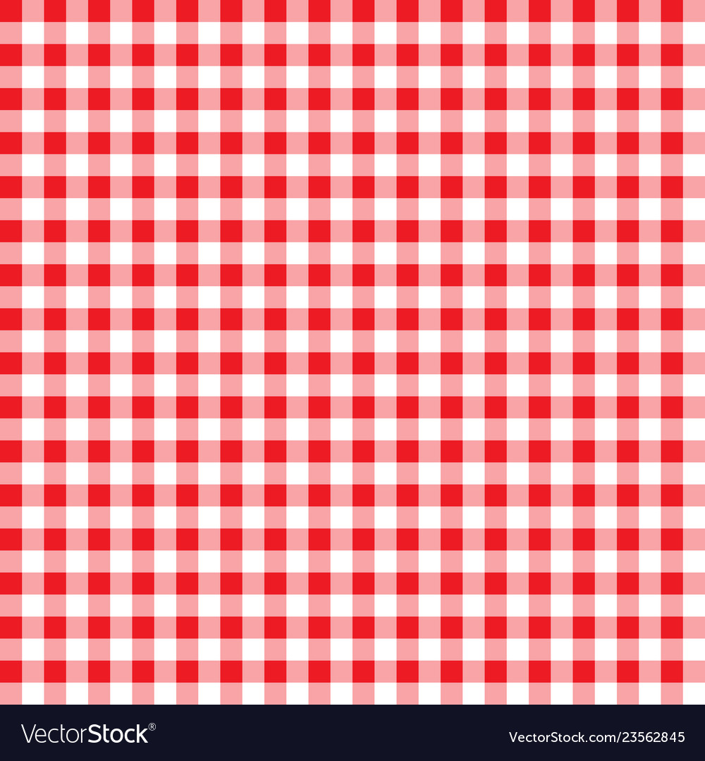 Firebrick Gingham Pattern Textured Red And White
